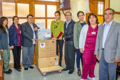 HOSPITAL CARLOS LANFRANCO LA HOZ RECIBE DONACION DE EQUIPO GENE XPERT IV