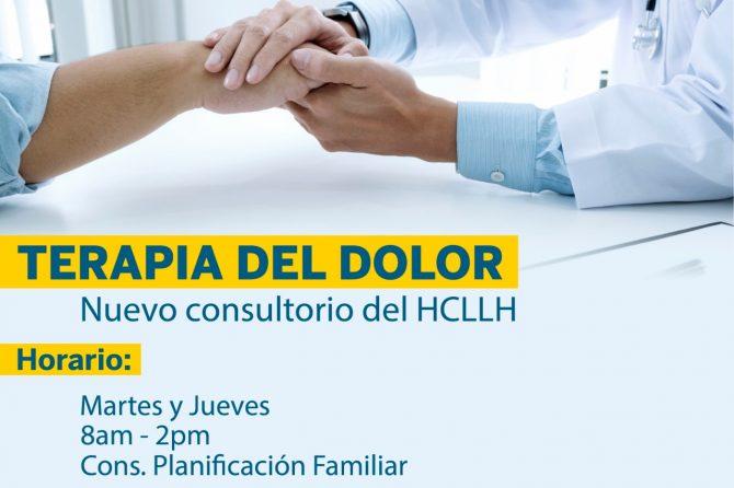 TERAPIA DEL DOLOR Hospital Carlos Lanfranco La Hoz cuenta con Nuevo Consultorio Especializado