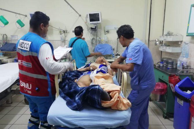 HOSPITAL CARLOS LANFRANCO LA HOZ RECIBE A PACIENTE REFERIDO DEL HOSPITAL HERMILIO VALDIZAN DE HUANÚCO.