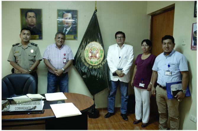 REUNIÓN TÉCNICA ENTRE HOSPITAL CARLOS LANFRANCO LA HOZ, COMISARIA PUENTE PIEDRA Y GERENCIA DE SEGURIDAD VIAL