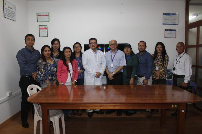 HOSPITAL CARLOS LANFRANCO LA HOZ RECIBE VISITA DE INSTITUTO NACIONAL MATERNO INFANTIL