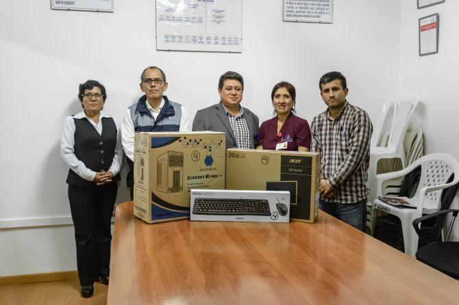 ESTRATEGIA SANITARIA Y PREVENCIÓN – CONTROL DEL VIH RECIBE DONACIÓN DE EQUIPO DE COMPUTO