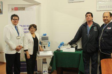 CEREMONIA DE ENTREGA DE EQUIPOS MEDICOS PARA EL SERVICIO DE OTORRINO Y OFTALMOLOGIA LANFRANQUINO