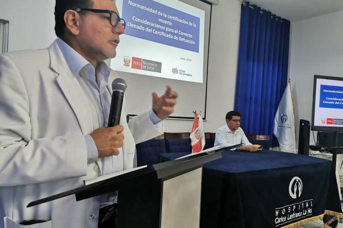TALLER CONSIDERACIONES PARA EL CORRECTO LLENADO DE UN  CERTIFICADO DE DEFUNCIÓN
